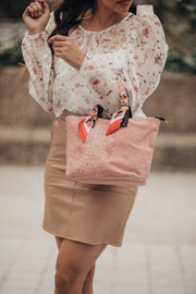 Falda mini polipiel camel