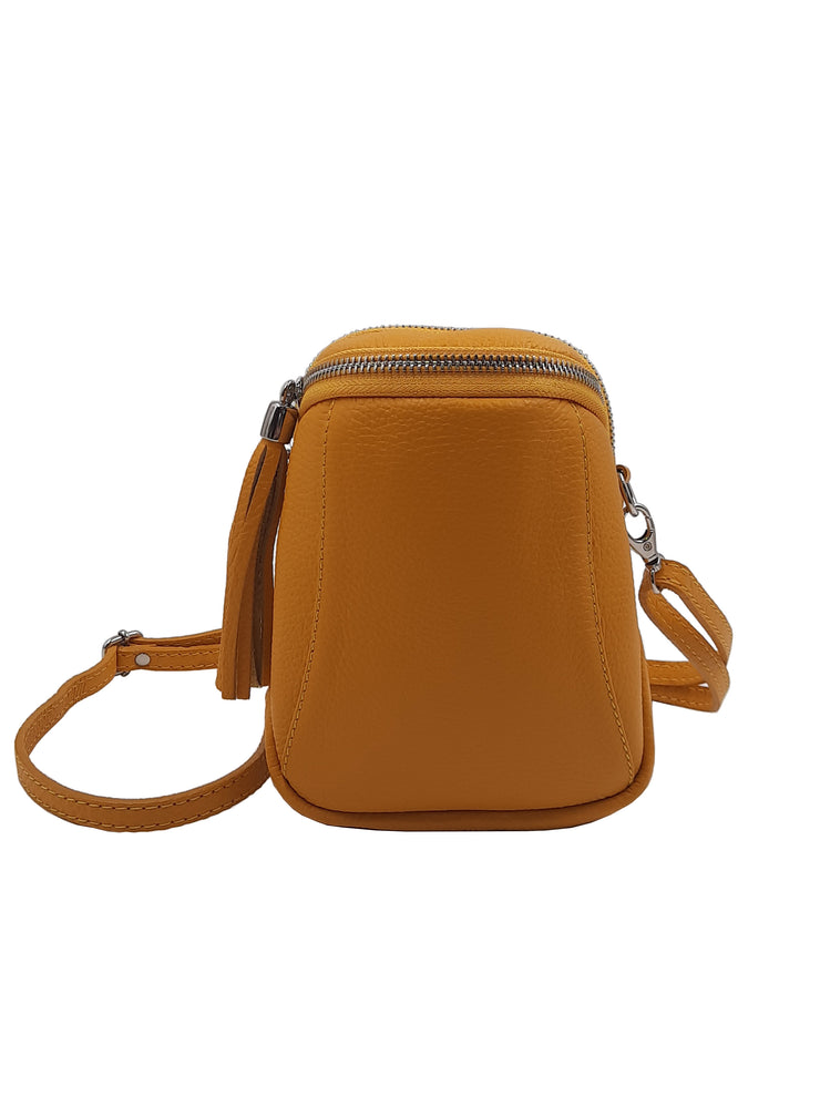 Mini bolso doble cremallera amarillo
