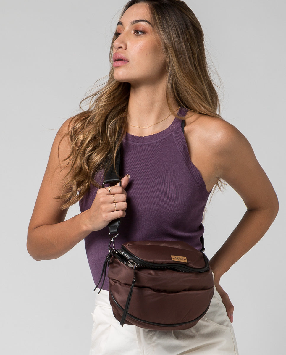Top morado escote halter