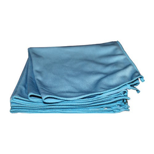 Blue Microfiber glass towel 12/pkg