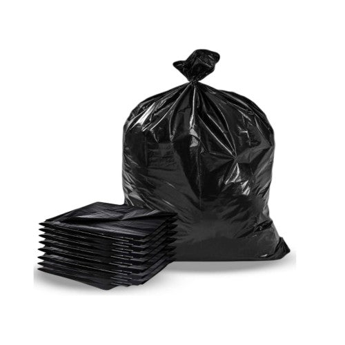 "30""x38"" Black Garbage Bags Strong, 200/case"