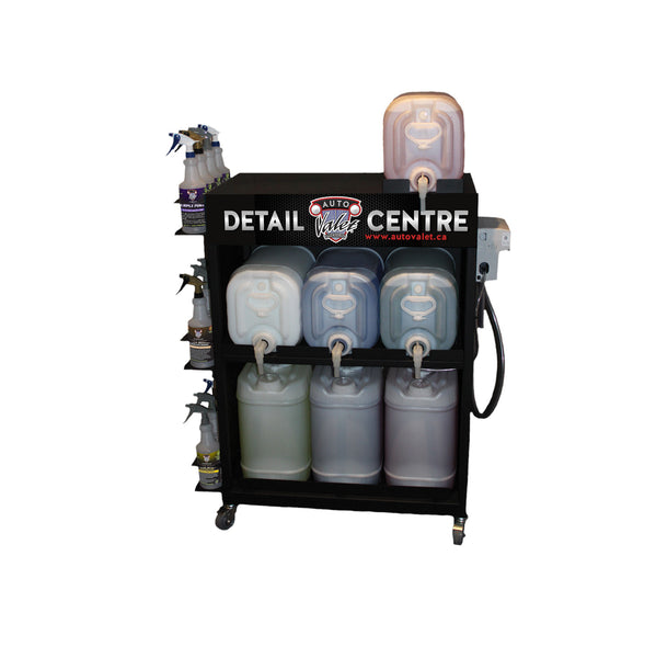 Auto Valet Chemical Dispensing Cart & 5 Product Proportioner Accupro 5