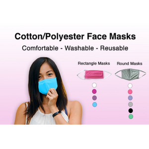 Cotton/Polyester Reusable Face Masks