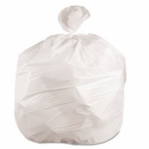 "20""x22"" White Garbage Bags, 500/case"