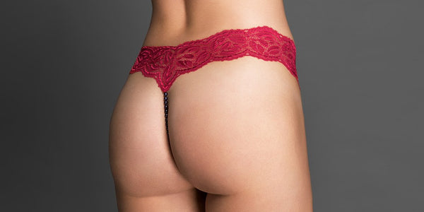 How a Red Pearl Thong Changed My Sex Life | The Porte-à-Vie Gentleman Reviews The Ebony Your Night Pearl Thong