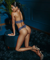 BRACLI | SYDNEY SINGLE PEARL THONG | BLUE LACE