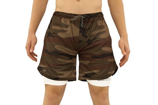 001. Cross-Functional Shorts - Brown Camo