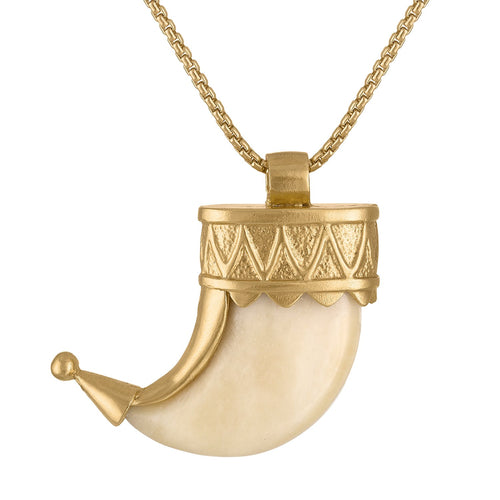 Sanctuaire-SewitSium-power-claw-gold-ivory-necklace