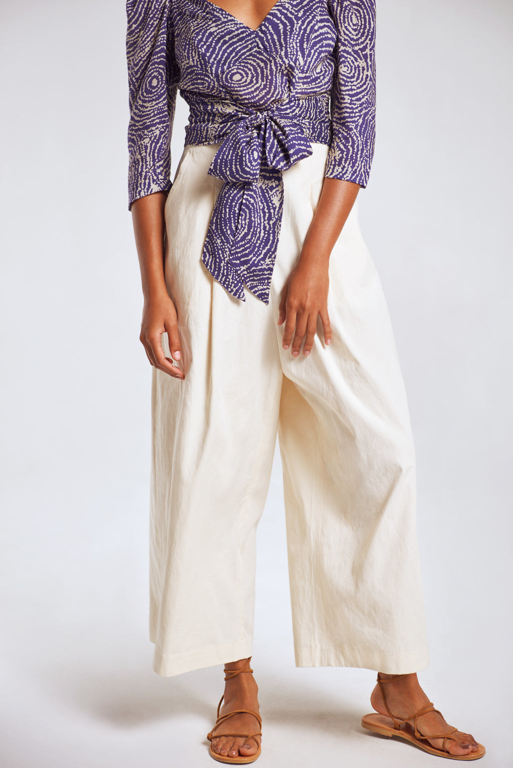 Sanctuaire-Hope-For-Flowers-cream-twill-cropped-trouser