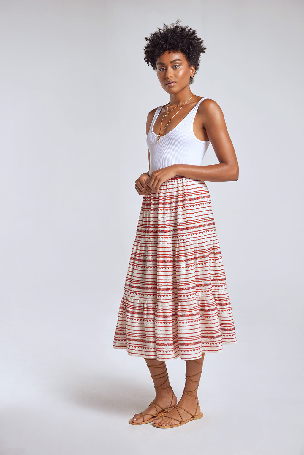 Sanctuaire-Hope-For-Flowers-horizontal-striped-patter-flowy-midi-skirt.