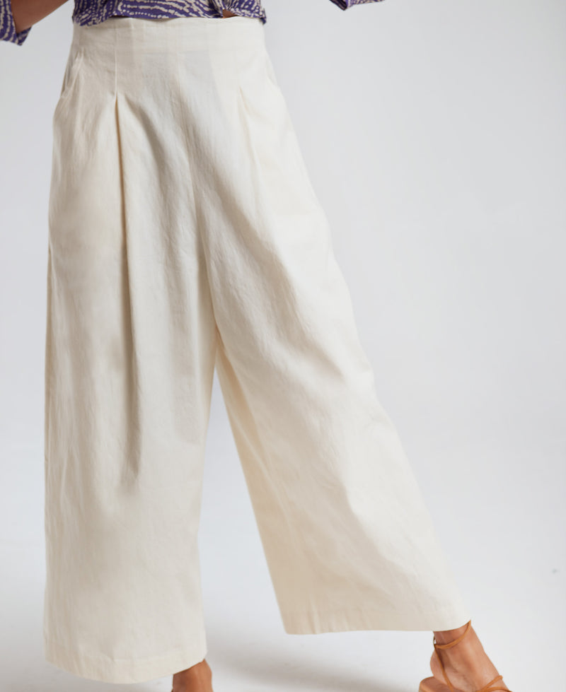 Sanctuaire-Hope-For-Flowers-parchment-twill-cropped--ivory-trouser.
