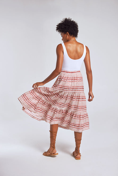 Sanctuaire-Hope-For-Flowers-straw-horizontal-striped-patter-flowy-midi-skirt