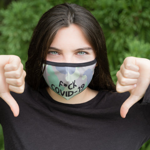 Face Mask - F*CK COVID - OUT OF STOCK in Size Small
