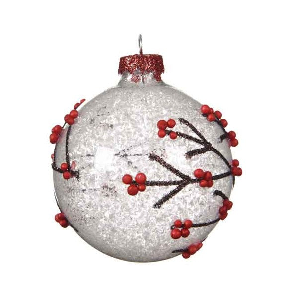 Snowy Branches Bauble Ornament