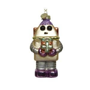 Even Robots Give Gifts Ornament