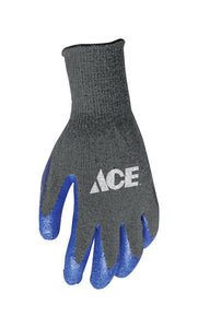 Ace Latex Coated Work Gloves - Blue/Grey