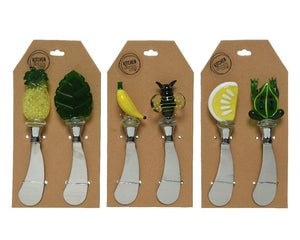 Tropical Fruit Glass Tapas Knives