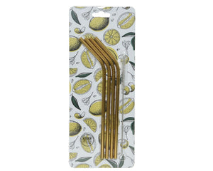 Gold Stainless Steel Reusable Straws