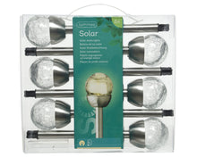 Load image into Gallery viewer, LED Solar Glass Ball Stake 6pk