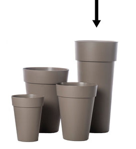 SALE! Duo Round Pots - White, Grey or Taupe