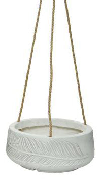 Natural Fiber Clay Hanging Pot