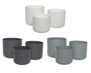 Speckled Plastic Planters