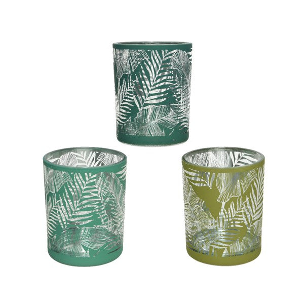 Tropical Palm Tea Light Holder