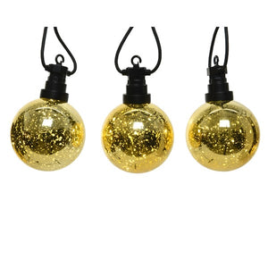 LED Golden Globe Lights, 14ft