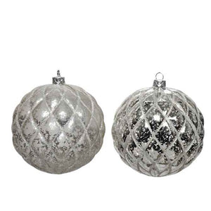 "Mercury ""Glass"" Bauble Ornament"