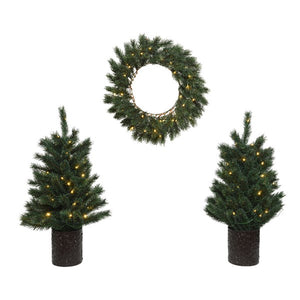 Malmo Trees & Wreath Set