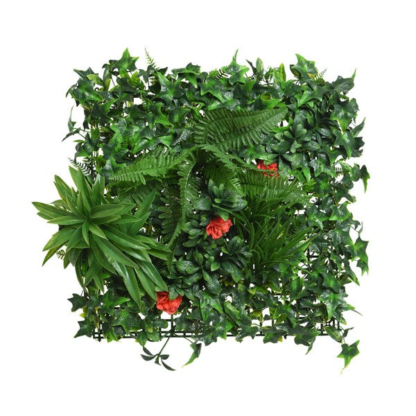 Foliage Wall Panel w/ Flowers