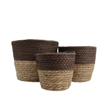 Load image into Gallery viewer, Grass Woven Baskets - Brown