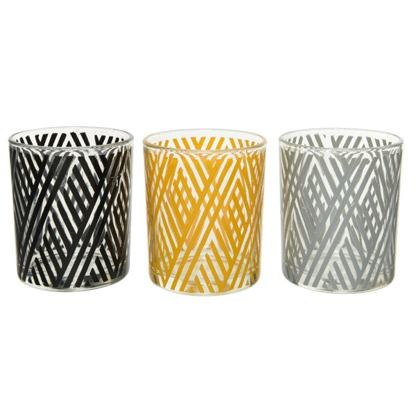 Stripe Tealight Holders