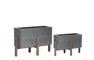 Romeo Rectangular Planter w/ Stand