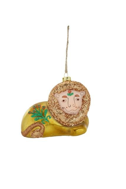 Retro Lion Ornament
