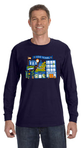 Frager's 100th Anniversary Long Sleeve Shirt- Navy