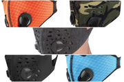 Reusable Protective Face Coverings (5 PACK - ORANGE/BLACK/CAMO/GREY/BLUE)