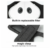 Reusable Protective Face Coverings (2 PACK - BLACK)