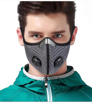 Reusable Protective Face Coverings (5 PACK - BLACK/GREY)