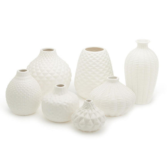 Artisan Carvings White Vases