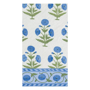 Indian Poppy Paper Guest Towel Napkins