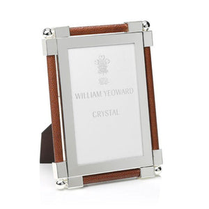 William Yeoward Crystal - Classic Shagreen Dark Brown Photo Frame