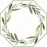 Watercolor Leaves Wreath Placemats