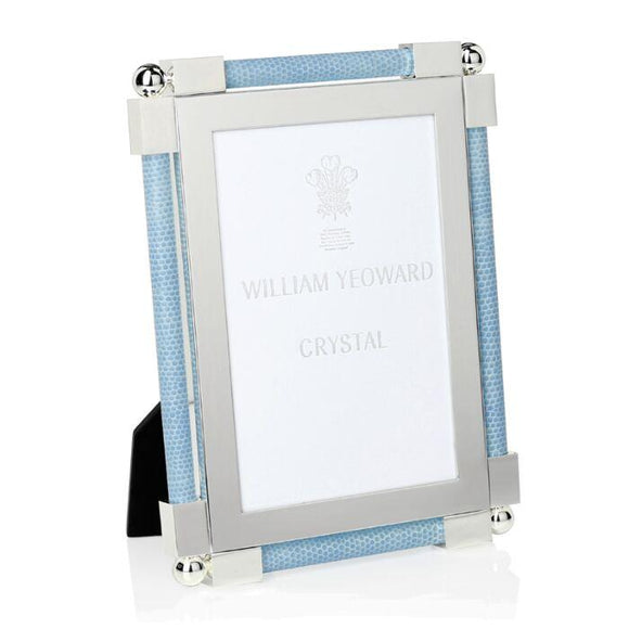 William Yeoward Crystal - Classic Shagreen Light Blue Photo Frame