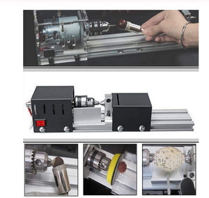 96W CNC Mini Lathe Machine™️ - Perfect For Woodworking, Power carving grinding