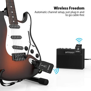 Wireless Audio Transmitter Receiver Guitar System