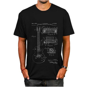 Gibson Les Paul Guitar Patent T-Shirt