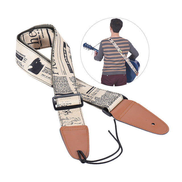 Comfortable Adjustable Guitar Strap Shoulder Strap