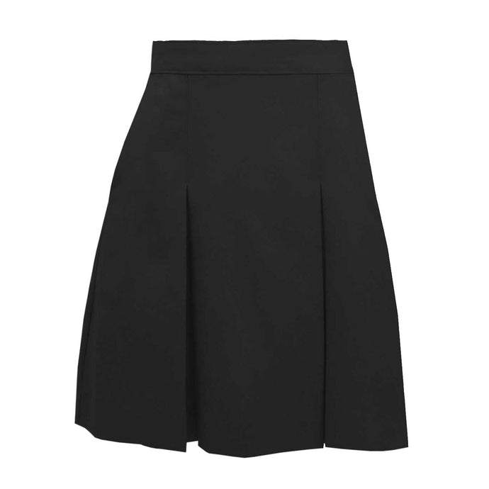 2 Pleat Skirt -  Black (Grades 9-12)