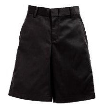 Boy's Flat Front Shorts - Black (Grades 7-12)